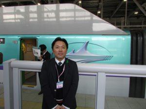 北海道新幹線に試乗する筆者